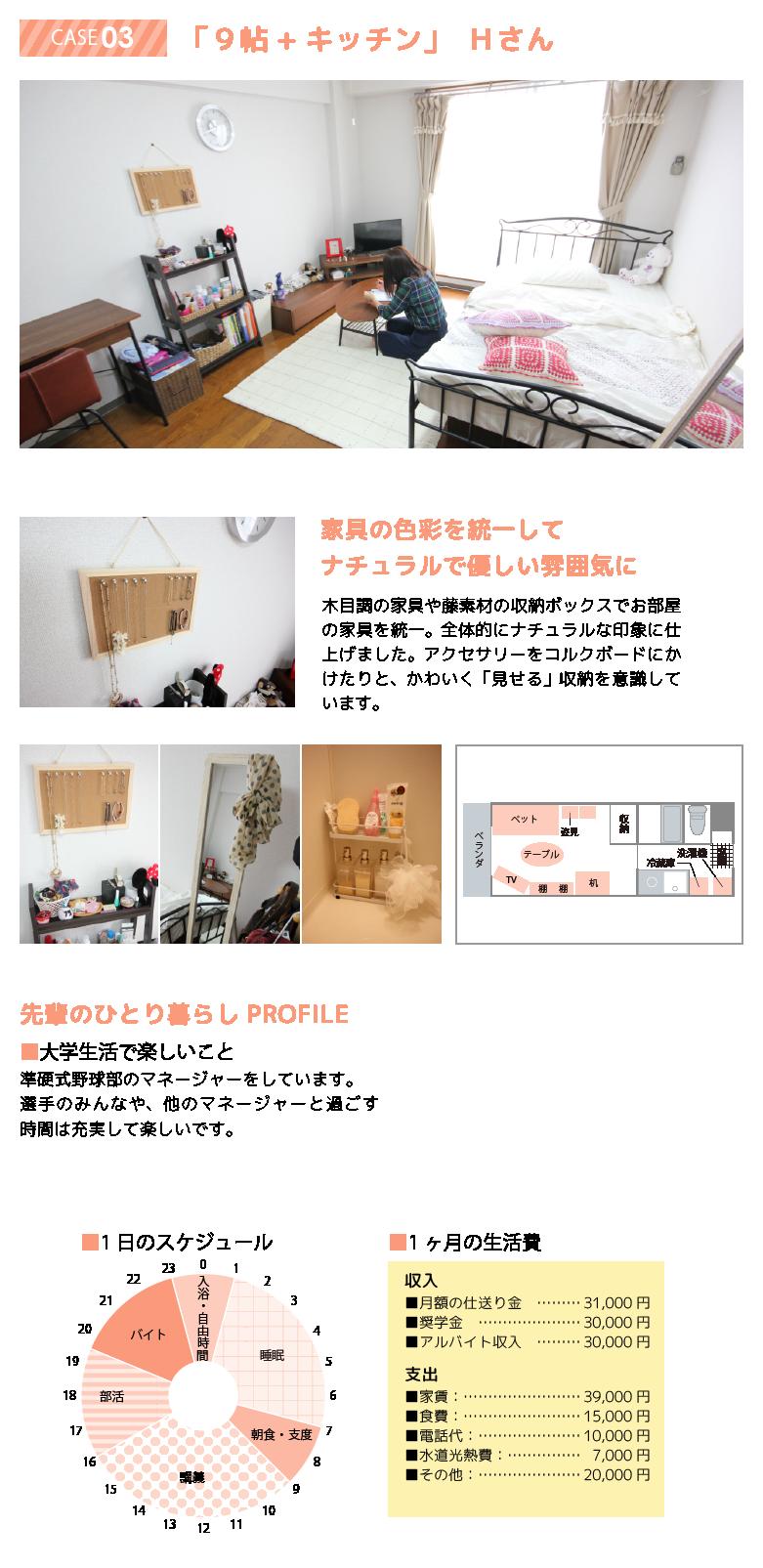 先輩のお部屋 case03